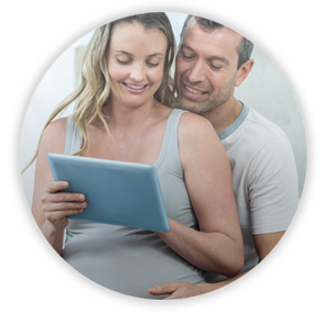 Couple learning on iPad
